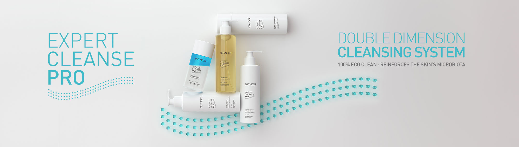 Expert Cleanse PRO. Double dimension cleansing system. 100% eco-clean