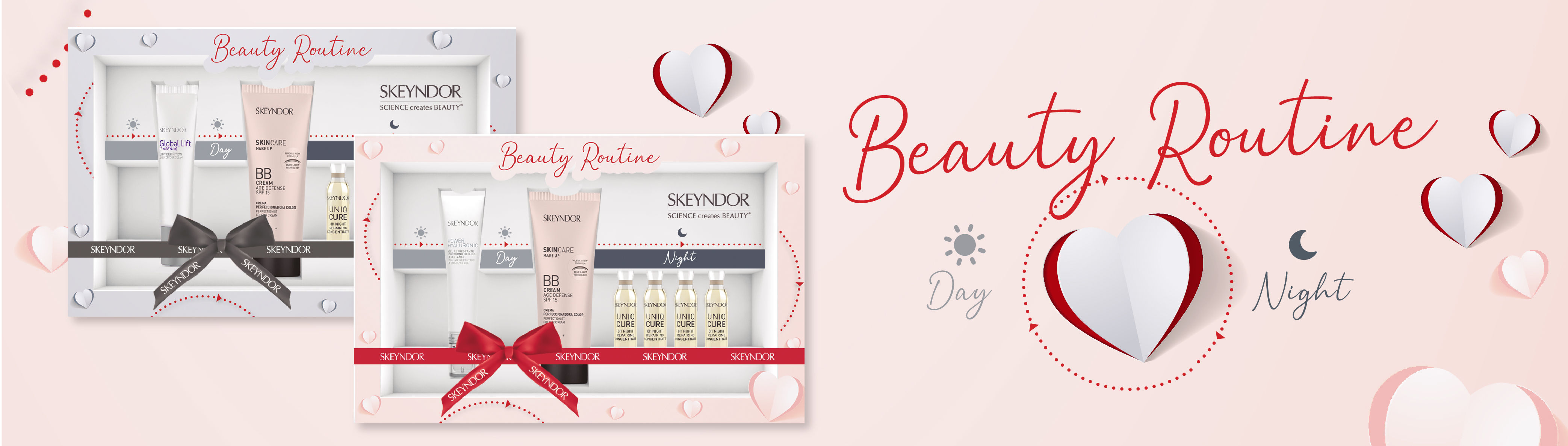 Discover the new St Valentines kits. Beaty routine for day & night