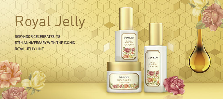 Skeyndor celebrates its 50th anniversary with the iconic Royal Jelly line